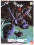 80s artist_name battle character_name gm_(mobile_suit) gm_command gun gundam gundam_0080 kaida_yuji mecha official_art rick_dom_ii rocket_launcher space space_colony weapon