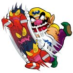 1boy brown_hair gloves hat highres official_art pointy_ears wario wario_land