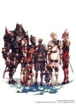 armor elf elvaan final_fantasy final_fantasy_xi galka hume mithra nomura_tetsuya official_art square_enix tarutaru