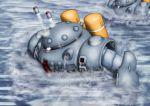 80s gundam gundam_0080 mecha missile no_humans ocean pinesea_(sankuri) robot water z'gok z'gok-e