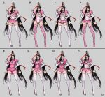 1girl alternate_costume bayonetta bayonetta_(character) concept_art nintendo official_art princess_peach princess_peach_(cosplay) super_mario_bros.