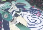 earth green_hair hatsune_miku headphones long_hair satellite space stars twintails vocaloid