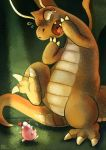 dragonite fang haychel heart igglybuff no_humans open_mouth pokemon scared spotlight tears