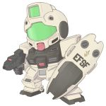 80s chibi gm_(mobile_suit) gm_command gun gundam gundam_0080 hisano1202 mecha shield weapon