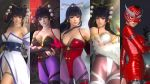 3d alternate_costume bare_shoulders black_hair breasts cleavage dead_or_alive dead_or_alive_5 japanese_clothes large_breasts long_hair nyotengu official_art tecmo violet_eyes