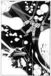 battle densetsu_kyojin_ideon explosion ideon mecha monochrome shijou_yukimasa solo_ship space space_craft