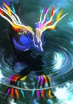 antlers glowing haychel highres no_humans pokemon reflection ripples water watermark xerneas
