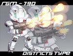 80s character_name chibi firing gm_(mobile_suit) gm_cold_districts_type gun gundam gundam_0080 mecha weapon xenonstriker