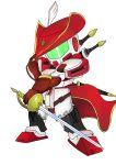 80s chibi gloves gm_(mobile_suit) gm_command gundam gundam_0080 hat mecha rapier sword tagme weapon