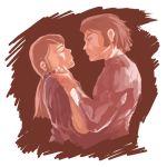 1boy 1girl bes_jordan densetsu_kyojin_ideon incipient_kiss karala_ajiba kow_(k.)