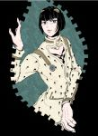 1boy black_hair blue_eyes bob_cut bruno_buccellati bruno_bucciarati hair_ornament jojo_no_kimyou_na_bouken male_focus mcccm615 solo zipper