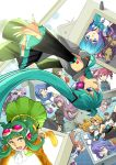 3boys 6+girls ahoge aoki_lapis aqua_hair blonde_hair blue_eyes blue_hair blue_scarf brother_and_sister brown_hair detached_sleeves drill_hair earmuffs goggles goggles_on_head green_eyes green_hair gumi hair_ornament hair_ribbon hairclip hat hatsune_miku headphones highres ia_(vocaloid) kagamine_len kagamine_rin kaito kamui_gakupo kasane_teto long_hair mayu_(vocaloid) megpoid_(vocaloid3) megurine_luka meiko merli_(vocaloid) multiple_boys multiple_girls nail_polish necktie niconico open_mouth pink_hair purple_hair red_eyes redhead ribbon scarf sf-a2_miki short_hair siblings sisters skirt thigh-highs toba_k twin_drills twintails utane_uta utau very_long_hair violet_eyes vocaloid voiceroid yuzuki_yukari