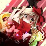 axe blonde_hair blood bow hair_bow ichinose_yukino itto_na_kataomoi_minoraseta_chiisa_na_shiawase_(vocaloid) long_hair mayu_(vocaloid) vocaloid weapon yellow_eyes