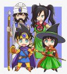 blue_eyes circlet cosplay deborah deborah's_daughter deborah's_son deborah's_daughter deborah's_son dragon_quest dragon_quest_iii dragon_quest_v family fighter_(dq3) fighter_(dq3)_(cosplay) hat hero_(dq5) mage_(dq3) mage_(dq3)_(cosplay) merchant_(dq3) merchant_(dq3)_(cosplay) mole roto roto_(cosplay) sword tonda turban twintails wand weapon witch_hat