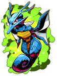 highres kingdra no_humans pokemon sido_(slipknot) simple_background solo transparent_background