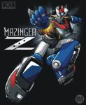 autobot commentary crossover firing firing_at_viewer lights mazinger_z mazinger_z_(mecha) mecha motion_blur nissan_350z original rex-203 robot rocket_punch science_fiction super_robot transformers