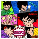 2017 6+boys armor bald bardock black_eyes black_hair blue_background brothers character_name clouds dated dragon_ball dragon_ball_super dragon_ball_z_fukkatsu_no_f dragonball_z father_and_son fighting_stance fingernails frown glasses gloves green_background gym_uniform highres image_sample lightning looking_at_viewer looking_away looking_back male_focus multiple_boys nappa nervous open_mouth orange_background panels pink_background purple_background raditz red_background scar short_hair siblings smile son_gohan son_gokuu spiky_hair star sweatdrop twitter_sample twitter_username vegeta yellow_background