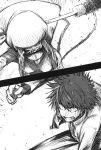 battle battling front haimura_kiyotaka hammer hammerrobe highres hungry kamijou_touma official_art robe scan spiky_hair to_aru_majutsu_no_index vent_of_the vent_of_the_front
