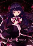 1girl black_hair card dress gokou_ruri gothic_lolita hairband holding holding_card lolita_fashion long_hair ore_no_imouto_ga_konna_ni_kawaii_wake_ga_nai red_eyes solo yadamon_(neverland)