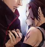 1boy 1girl corpse lily_(artist) lowres mask naruto naruto_shippuuden pain_(naruto) piercing uchiha_itachi yaoi