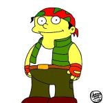 1boy king_of_fighters lowres parody pun ralf_jones ralph_wiggum snk solo the_king_of_fighters the_simpsons