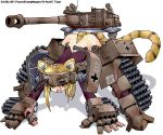 1girl all_fours animal_ears blonde_hair cannon caterpillar_tracks character_name fang ground_vehicle gun iron_cross kanji mecha_musume military military_vehicle motor_vehicle original panties personification pzkpfw_vi short_hair simple_background slit_pupils solo tail tank tiger_(tank) tiger_ears tiger_print tiger_tail underwear vehicle weapon white_background world_war_ii yellow_eyes yonezuka_ryou