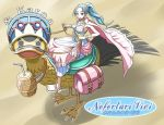 1girl alabasta bird blue_hair brown_background carue character_name duck earrings female jewelry nefertari_vivi one_piece princess riding