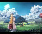 3girls car chen clouds female garnet ground_vehicle hat motor_vehicle multiple_girls scenery touhou tree vehicle yakumo_ran yakumo_yukari