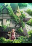 1girl blonde_hair female garnet hat long_hair nature outdoors solo touhou violet_eyes yakumo_yukari