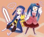 2girls artist_request bow chibi dlanor_a_knox eiserne_jungfrau furudo_erika kokuro leotard multiple_girls pantyhose pink_bow umineko_no_naku_koro_ni
