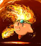 bad_id breathing_fire circlet fiery_hair fire flame kirby kirby_(series) nintendo no_humans uzaki_(jiro) zuro
