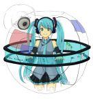 detached_sleeves green_eyes green_hair hatsune_miku headphones jigsaw_puzzle murata_isshin puzzle smile twintails vocaloid