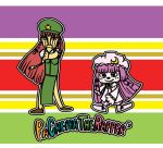 1boy chop_chop_master_onion cosplay crossover hong_meiling hong_meiling_(cosplay) m-1_grand_prix parappa parappa_the_rapper parody patchouli_knowledge patchouli_knowledge_(cosplay) touhou