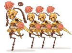 4girls antennae bee bee_girl cheerleader crown extra_eyes furry insect_girl insect_wings jon_henry_nam monster_girl multiple_arms multiple_girls namu_gunsou no_panties original pixiv princess simple_background wings