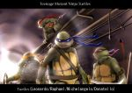 donatello katana leonardo michelangelo murakumo1987 ninja nunchaku raphael staff sword teenage_mutant_ninja_turtles turtle weapon