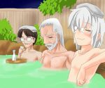 3boys bath konpaku_youki male_focus morichika_rinnosuke multiple_boys shared_bathing touhou zun
