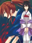 black_eyes black_hair blood error haori himura_kenshin japanese_clothes kimono long_hair loo ponytail redhead rurouni_kenshin samurai yukishiro_tomoe