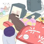 ... 2girls computer female fujoshi futaba_channel hikikomori houraisan_kaguya lazy lying multiple_girls neet oekaki on_side six_(fnrptal1010) touhou yagokoro_eirin