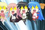 +_+ 4girls black_legwear chibi chocolate_cornet crossover hayate_no_gotoku! izumi_konata kugimiya_rie louise_francoise_le_blanc_de_la_valliere lucky_star multiple_crossover multiple_girls odd_one_out photoshop sanzen'in_nagi school_uniform screencap seiyuu_connection shakugan_no_shana shakugan_no_shana-tan shana shana-tan thigh-highs you_gonna_get_raped zero_no_tsukaima zettai_ryouiki