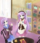 2girls asahina_mikuru asahina_mikuru_(cosplay) cosplay hiiragi_kagami hiiragi_tsukasa lucky_star multiple_girls nagato_yuki nagato_yuki_(cosplay) siblings sisters suzumiya_haruhi_no_yuuutsu twins