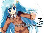 1girl blue_eyes blue_hair hair_ornament lyrical_nanoha mahou_shoujo_lyrical_nanoha mahou_shoujo_lyrical_nanoha_strikers military military_uniform rei_(artist) rei_(rei's_room) reinforce_zwei solo uniform x_hair_ornament