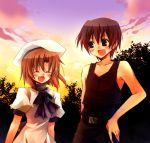 1boy 1girl couple hetero higurashi_no_naku_koro_ni maebara_keiichi ryuuguu_rena suzushiro_kurumi