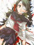 1girl bandage bk black_hair kobushi_abiru lowres mudo_(saji) sayonara_zetsubou_sensei solo