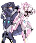 anryuu artist_request breasts kouryuu_(gaogaigar) mecha no_humans open_mouth pose simple_background smile super_robot white_background yuusha_ou_gaogaigar yuusha_ou_gaogaigar_final yuusha_series