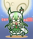 caved chibi ex-keine female horn_ribbon horns kamishirasawa_keine ribbon touhou