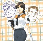 1girl gloves kidou_keisatsu_patlabor mizuhara_aki nagumo_shinobu necktie police police_uniform policewoman shirt solo uniform