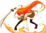 redhead school_uniform serafuku shakugan_no_shana shana sword thigh-highs weapon yonko zettai_ryouiki