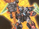 foreshortening gaofighgar goldion_hammer mecha no_humans super_robot yuusha_ou_gaogaigar yuusha_ou_gaogaigar_final yuusha_series