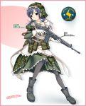apron assault_rifle boots camouflage combat_maid gloves gun maid maid_apron nomura_teruya operator pantyhose rifle type_89 uniform weapon