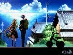 1boy 1girl air aratani_tomoe blonde_hair clouds highres kamio_misuzu kunisaki_yukito long_hair ocean scenery sky tricycle